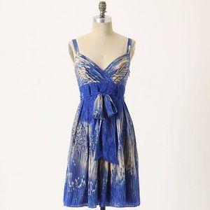 Anthropologie Lil Caballo Falls Silk Dress Size 2